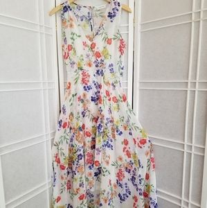 Women's Kelvin klein white floral summer dress